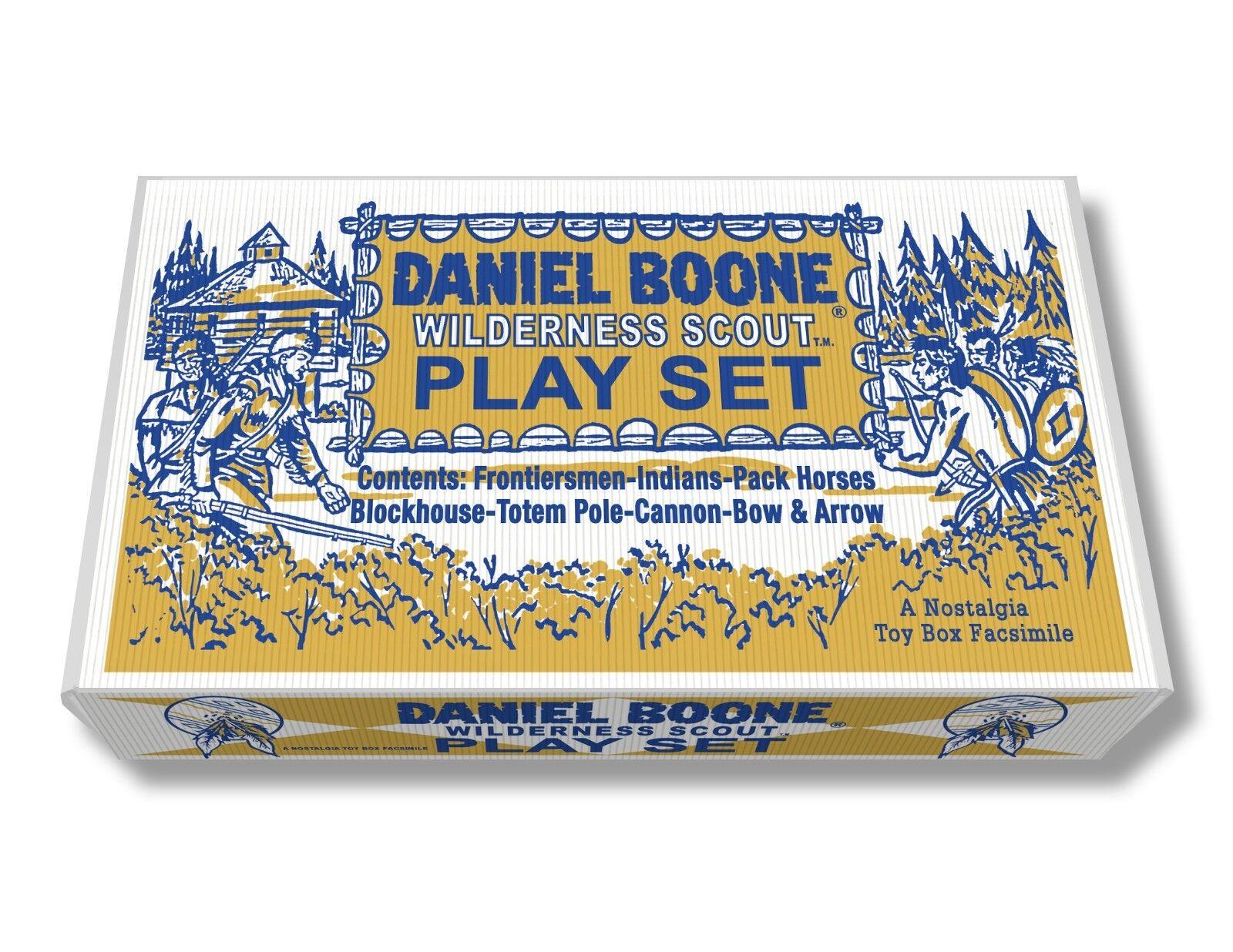 Marx Daniel Boone Wilderness Scout Play Set Box    No. 2640