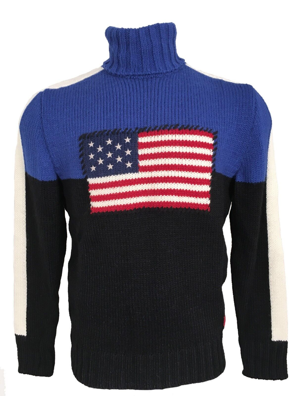 NEW 395 Polo Ralph Lauren US Flag Sweater   Huge US Flag   RARE Made in USA