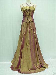 Cherlone Plus Size Gold Ballgown Bridesmaid Wedding Evening Formal Dress 24-26