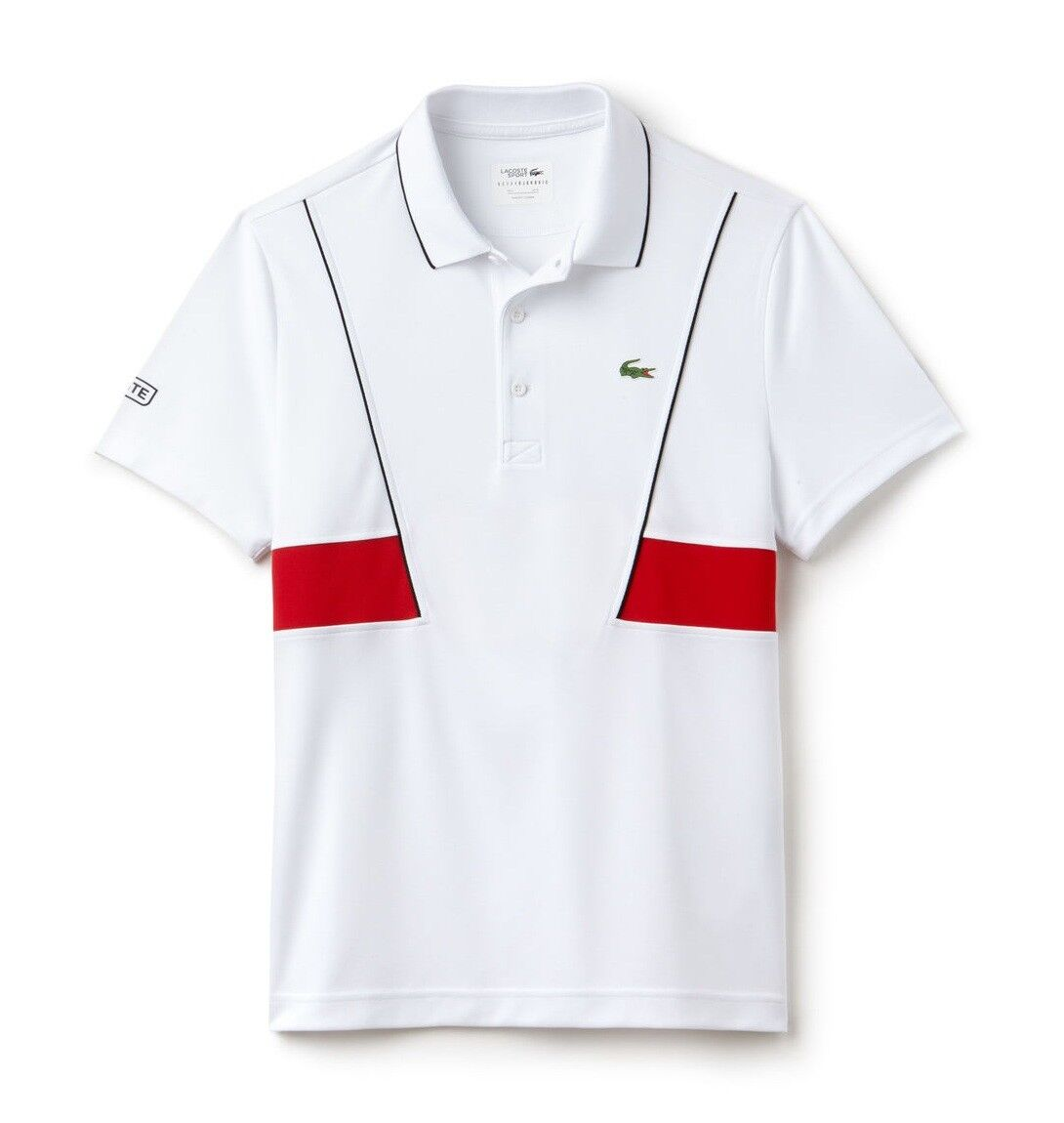 LACOSTE SPORT POLO SHIRT - XXL T7 - BNWT - WHITE - ULTRA DRY DH3325 - RRP