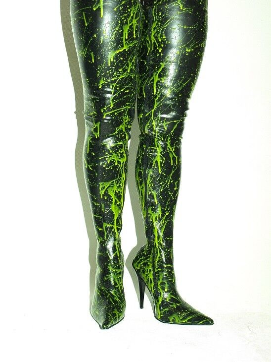 PROMOTIONS LATEX RUBBER HIGHS BOOTS  SIZE 5-16 HEELS-5,5 13CM- PRODUCE POLAND
