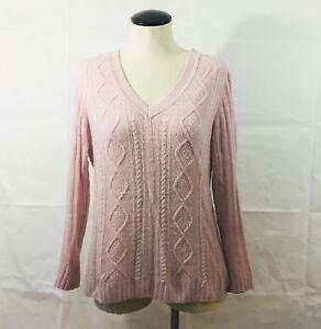 P20-Womens-Martin-Osa-Lambs-Wool-Cashmere-Pink-Sweater-Sz-Large