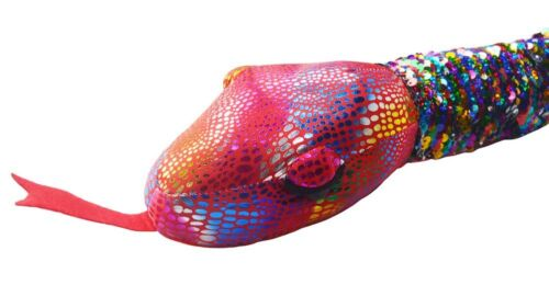 """Rainbow Wild Republic Color Changing Silver to Rainbow 36/"""" Sequin Snake"""