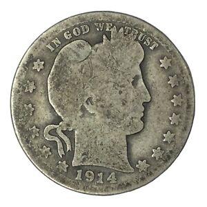 1914-S 25C Barber Quarter Circulated #