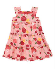 NWT GYMBOREE UNICORN GARDEN ROSE TIERED RUFFLE DRESS SIZE 18 24 MONTHS PINK