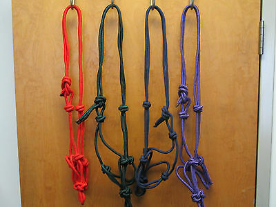 Rope Halter /  Lot Of  2  Full Size  , 8 colors to choose from