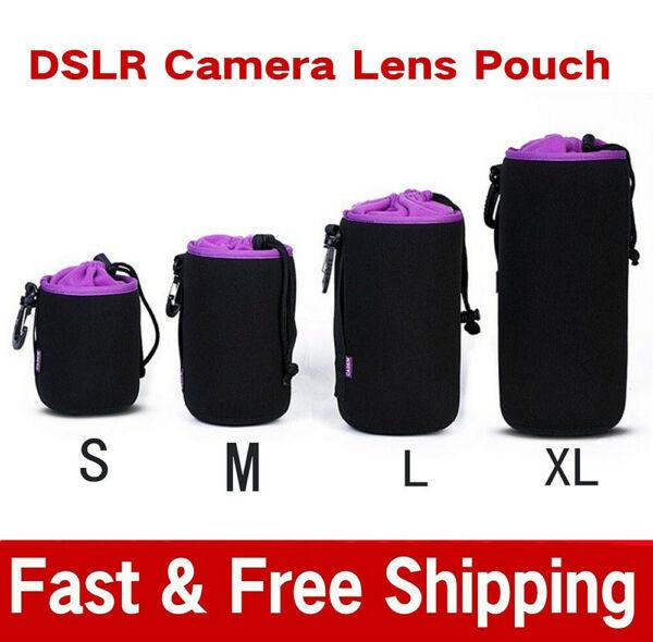 100% De Qualité S/m/l/xl Imperméable Néoprène Dslr Camera Lens Soft Protector Pouch Case Sacs Set