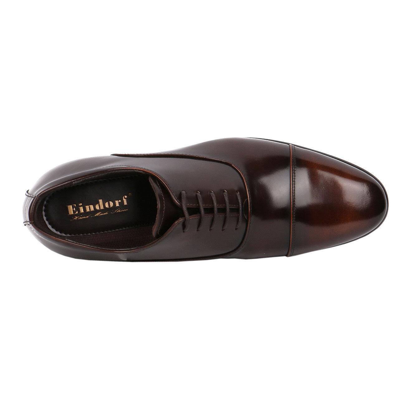 Wide Shoe Two Tone Brown Glossy Formal, Elegant & Dressy 2.8