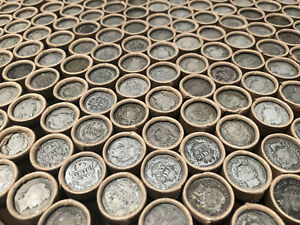 OLD-ROLLS-US-COIN-COLLECTION-SILVER-BULLION-ESTATE-SALE-LIQUIDATION-SMALL-CENTS