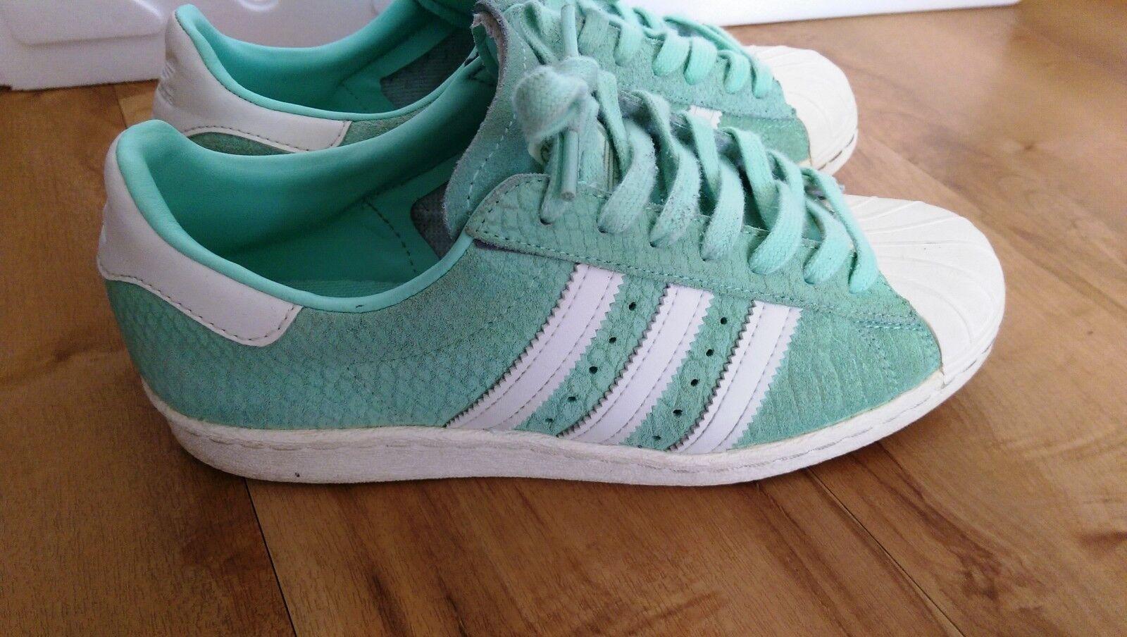 Adidas Superstar hellgrün Wildleder gr. 39 1 3