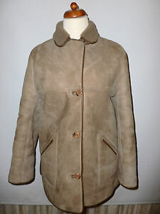LADIES OAKLEAF HAND TAILORED REAL SHEEPSKIN COAT SIZE UK16 BRITISH ...