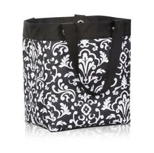 Thirty One Open top Essential Storage Tote in Black Parisian Pop Shopping bag