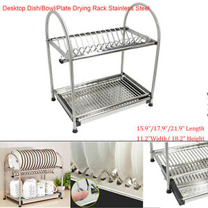 Floor Countertop Kitchen Dish Rack Bowl