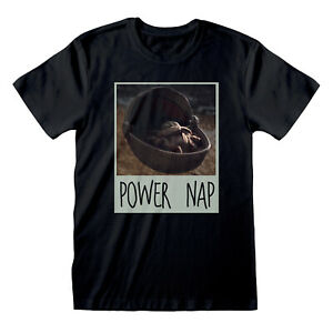 Star-Wars-The-Mandalorian-Power-Nap-T-Shirt-Official-Mens-Child-Baby-Yoda-NEW