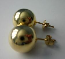 New 18 karat gold filled 14 mm ball stud earring