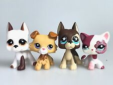 4x Littlest Pet Shop LPS Figure Toys Great White Dane Dog Collie Short Hair Cat
