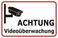 Schild Videoüberwachung Kamera 15x20, 20x30 Oder 30x40 Sicherheit Hinweis Alarm