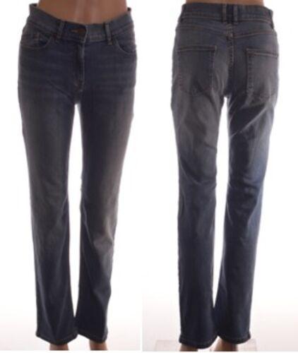 EX M/&S MID Blu Denim Elastico Slim Fit Skinny Leg Jeans Taglia 8-18 A89