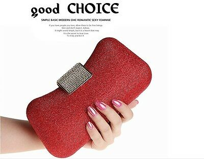 New Women's Clutch Crysta Diamond Evening Bag Party Wedding Handbag 7 Colors