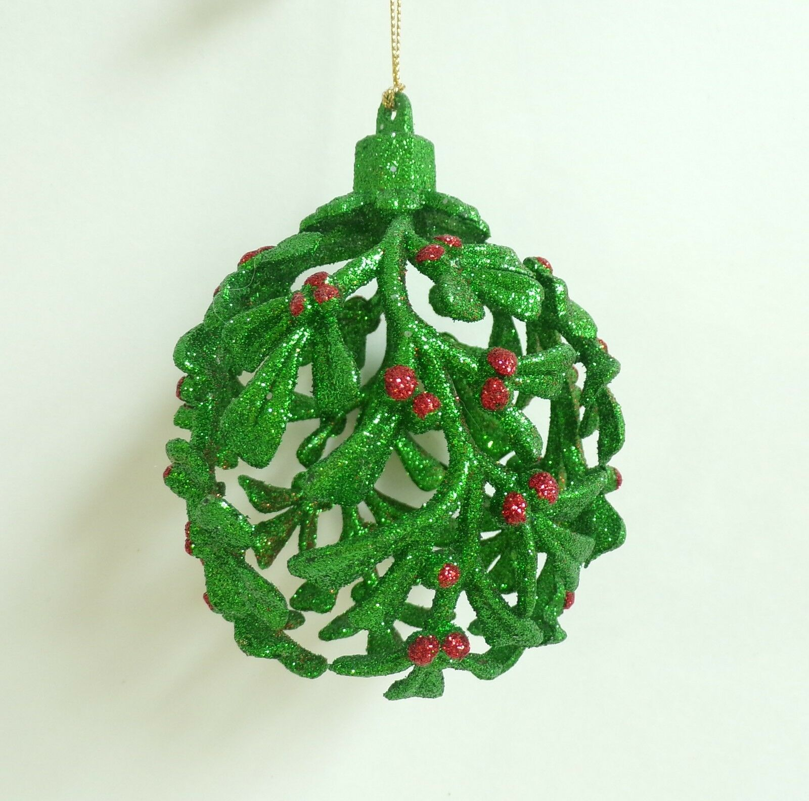 Glass Pearl Drop iridescent Finial  Christmas Ornament  Pier 1 Imports New NWT