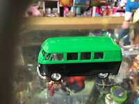 Official Welly Licensed 4 Dark Green Vw Campervan Diecast Plastic Opening Doors