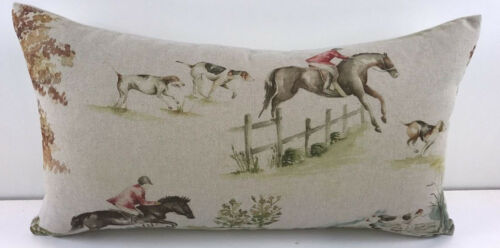 Voyage Horse and Hound Linen Cushion Covers Many sizes available.