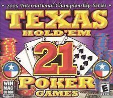 Video Game PC Texas Hold 'Em Poker 21 Games (Windows/Mac, 2004) NEW SEALED Jewel