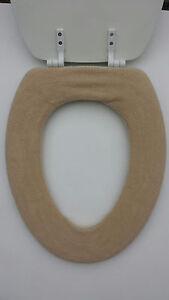Bathroom-Toilet-Seat-Warmer-Cover-Washable-Beige-Sand-LifeLong-Needs-24-Colors