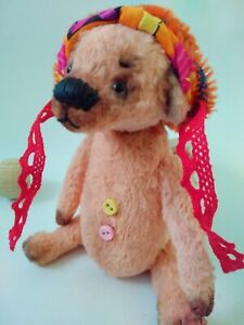 Teddy-Bear-Bax-in-a-hat-OOAK-Artist-Teddy-by-Voitenko-Svitlana