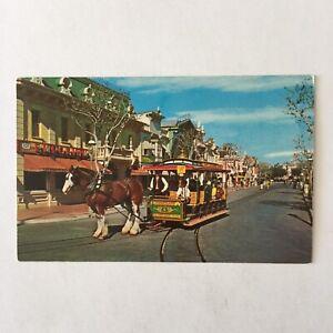 Horse-Drawn-Street-Car-Disneyland-Unposted-Postcard