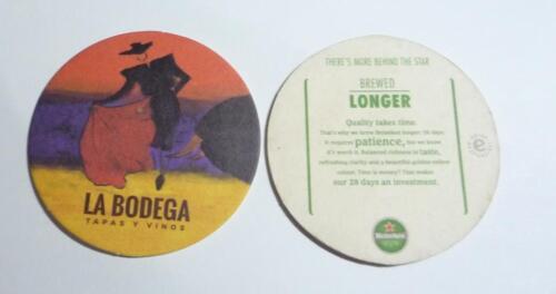 LA BODEGA Promo HEINEKEN BEER Beer Mat Coaster MALAYSIA 2016 Bullfighter RARE