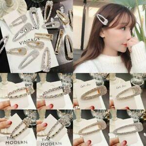 Women-Crystal-Pearl-Snap-Barrette-Hair-Clip-Stick-Hairpin-Hair-Accessories-Gift
