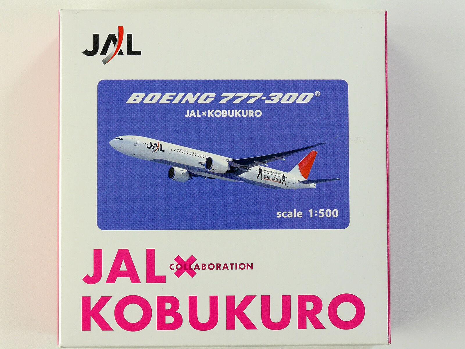 Jalux ja8941 boeing 777-300 jal kobukuro metall 1  500 flugzeug ovp 1601-24-02