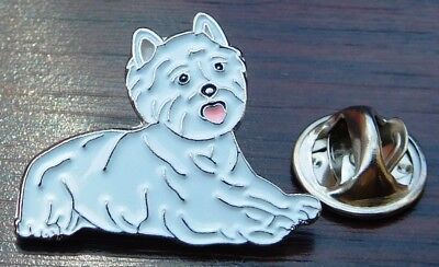 Westie Lapel Hat Cap Tie Pin Badge Animal Brooch West Highland White Terrier Dog