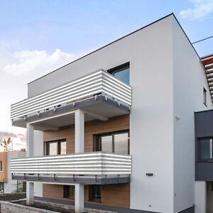 Balkon Sichtschutz 600x75 cm Balkonsichtschutz Balkonumrandung Balkonverkleidung