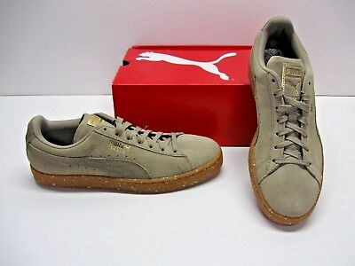 Puma Suede Classic FT Beige Gum Rubber Soles Fashion Sneakers Shoes Womens  11 | eBay