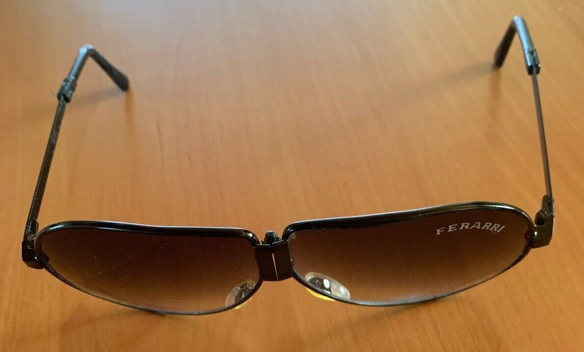 Ferrari Sonnenbrille - 80er Jahre - Faltbar - mit Etui - braun Gläser - Vintage