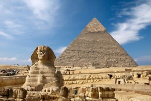 A1-Egyptian-Pyramids-Poster-Art-Print-60-x-90cm-180gsm-Sphinx-Giza-Egypt-8230