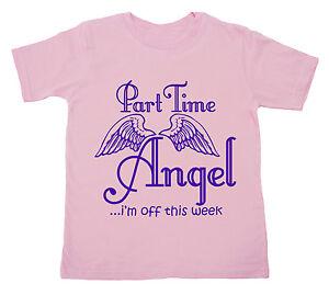 DIVERTIDO-INFANTIL-CAMISETA-034-PART-TIME-Angel-I-039-m-Sin-Mangas-este-semana-034