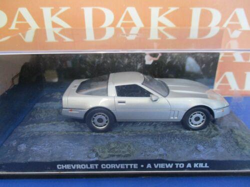 Die cast 1//43 Modellino Auto 007 James Bond Chevrolet Corvette A View to a Kill