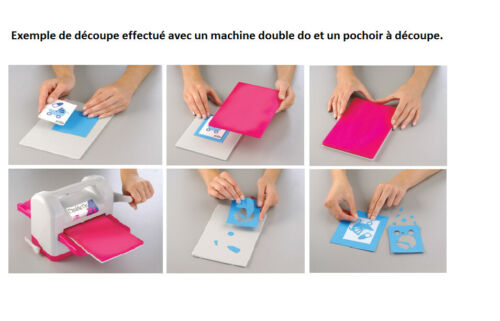 Gabarit de découpe U, V, W, X pour machine Double Do hauteur lettre: 1,2cm