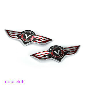 Couple Fuel Gas Tank Emblem Stickers Badge Decal For Kawasaki Vulcan