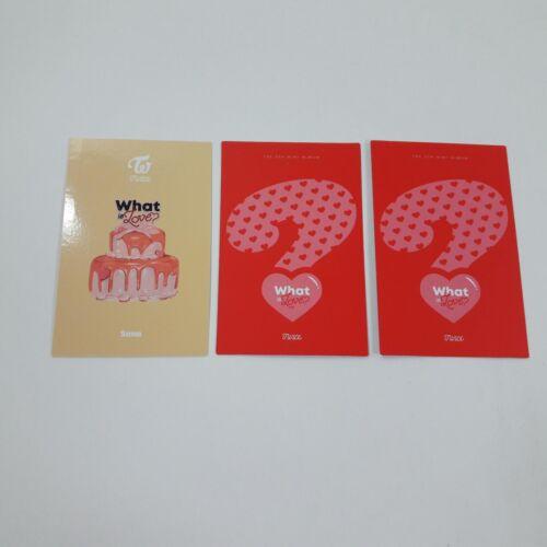 TWICE 5th Mini What is Love Official Original SANA Photocard 3p set K-POP Idol