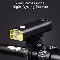 Usb Rechargeable Bike Front Handlebar Light Battery Flashlight Cycling Led Light
