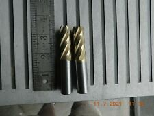 Carbide End Mill 2pc Lot 58 Shank Dia 5fl End With18 X 45 Tin Coat Stock 8