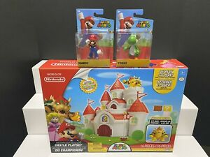 World of Nintendo CASTLE PLAYSET w/BOWSER FIGURE - (BONUS ...