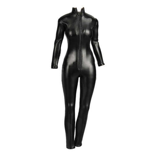 """1//6 Female Faux Leather Jumpsuit Catsuit Outfit for 12/"""" Kumik Phicen Hot Toy"""
