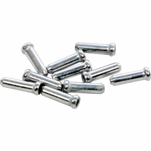 6 X Inner Gear//Brake Bike Cable Wire Ends//Crimps//Tidy//Ferrule//Cap// Cover Silver