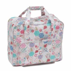 PVC Storage Crafts HobbyGift Sewing Machine Bag Mauve Spot Polka Dot