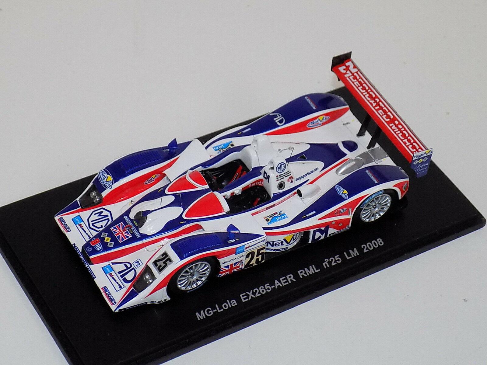 1 43 Spark  MG - Lola EX265   Car Hours of LeMans  2008  S1439